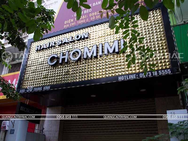 Biển quảng cáo salon tóc Chomimi