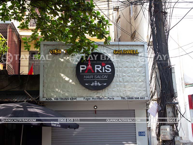 Biển quảng cáo salon tóc Paris