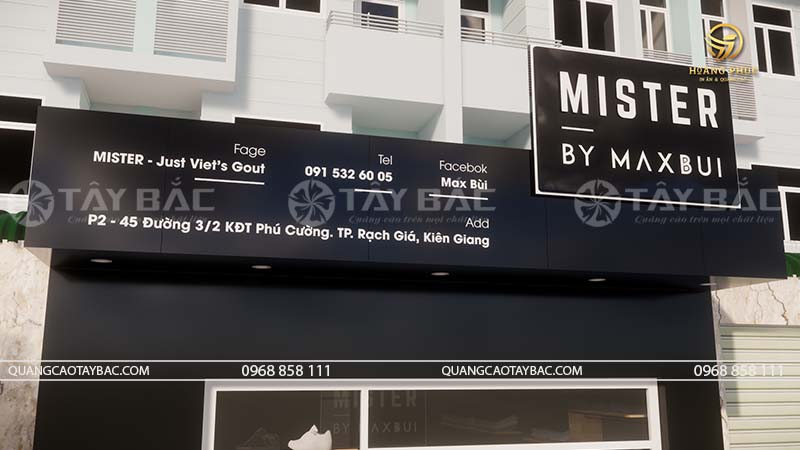 Biển quảng cáo thời trang maxbui