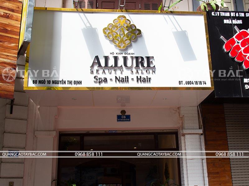 Biển quảng cáo spa Allure