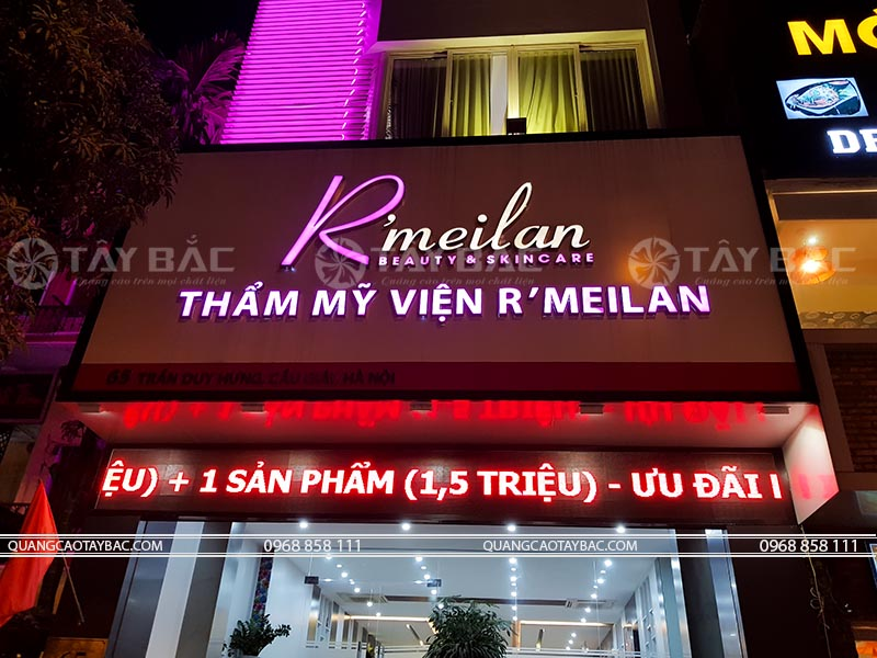 Biển quảng cáo thẫm mỹ viện Rmeilan