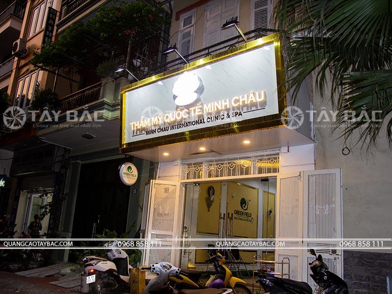 Biển quảng cáo thẫm mỹ viện Minh Châu
