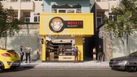 Biển quảng cáo tiệm bánh Monkey