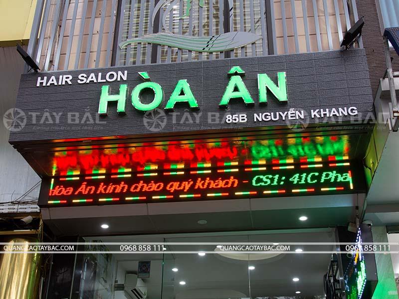 Biển quảng cáo tóc Hòa Ân