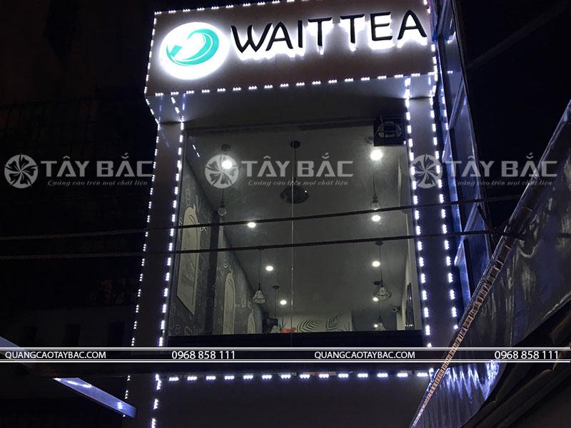 thi công biển quảng cáo trà sữa Waittea
