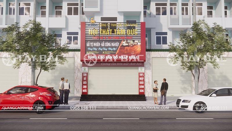 Tông quan biển quảng cáo nội thất đồ gỗ Tâm Đức