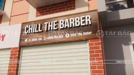 Biển quảng cáo salon tóc Chill Baby