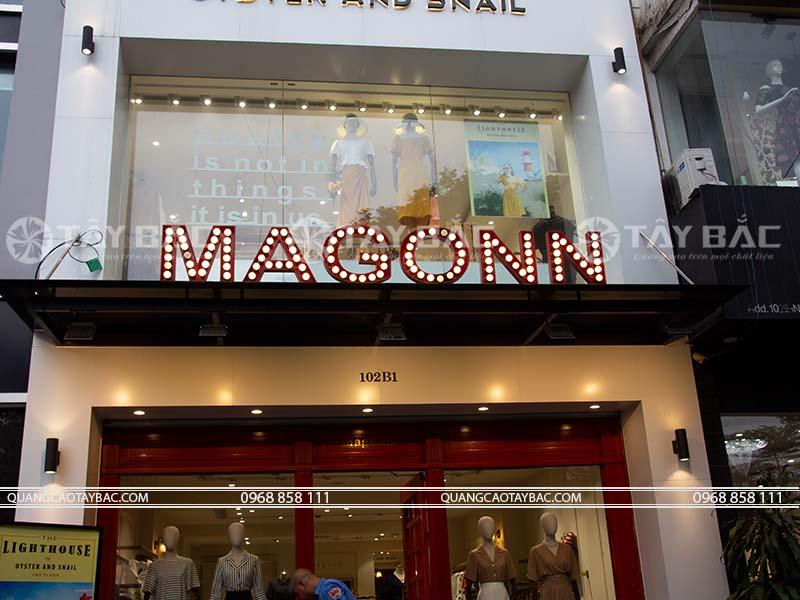 Bảng hiệu shop quần áo Magonn