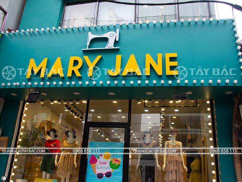 Biển hiệu shop Mary Jane