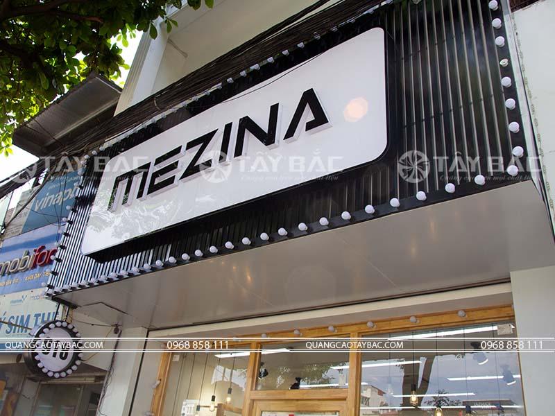 Biển quảng cáo shop thời trang Mezina