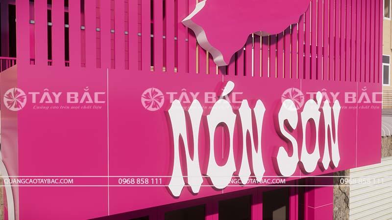 Biển quảng cáo thời trang Nón Sơn