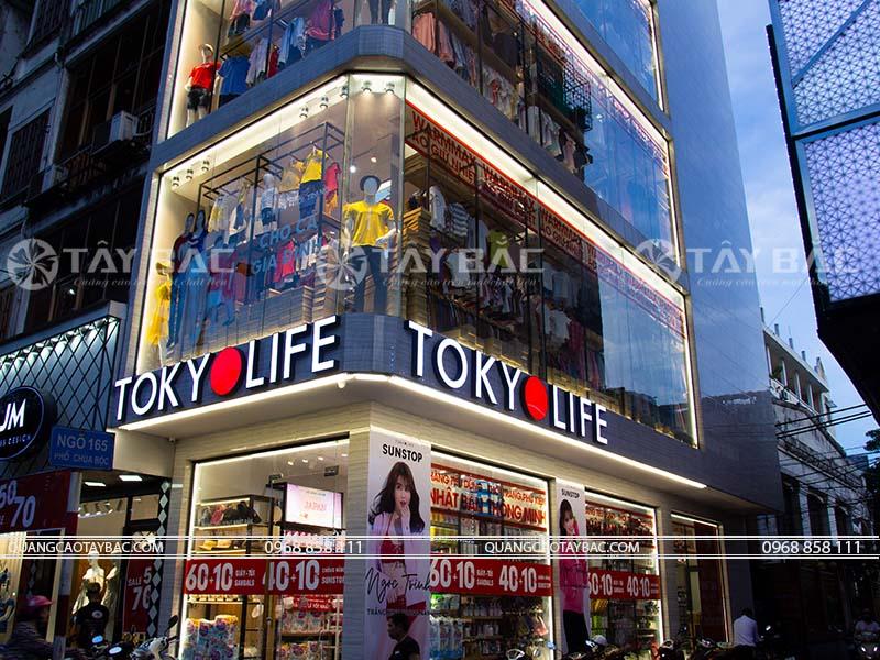 Biển hiệu cửa hàng quần áo Tokyo Life