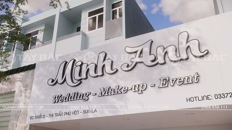 Biển quảng cáo trang điểm Minh Anh