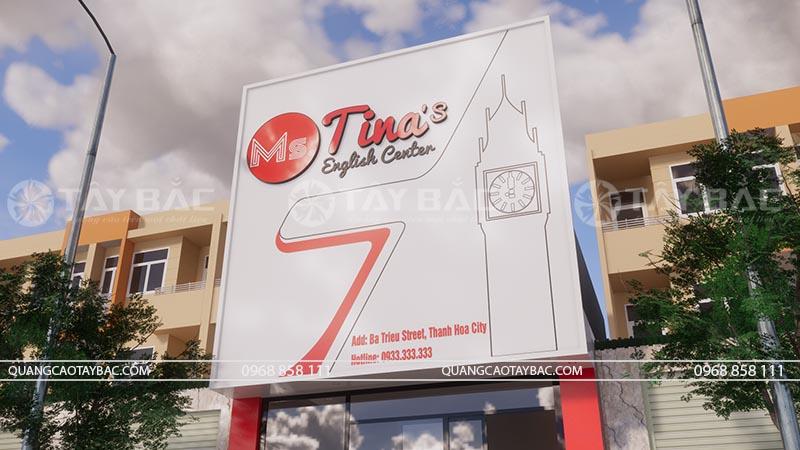 Biển quảng cáo trung tâm ngoại ngữ Tina