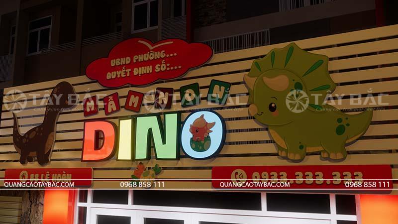 Biển quảng cáo trường mầm non Dino