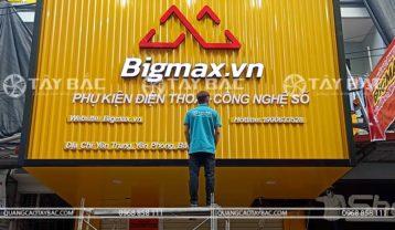 thi công biển quảng cáo phụ kiện điện thoại bigmax Bắc Ninh