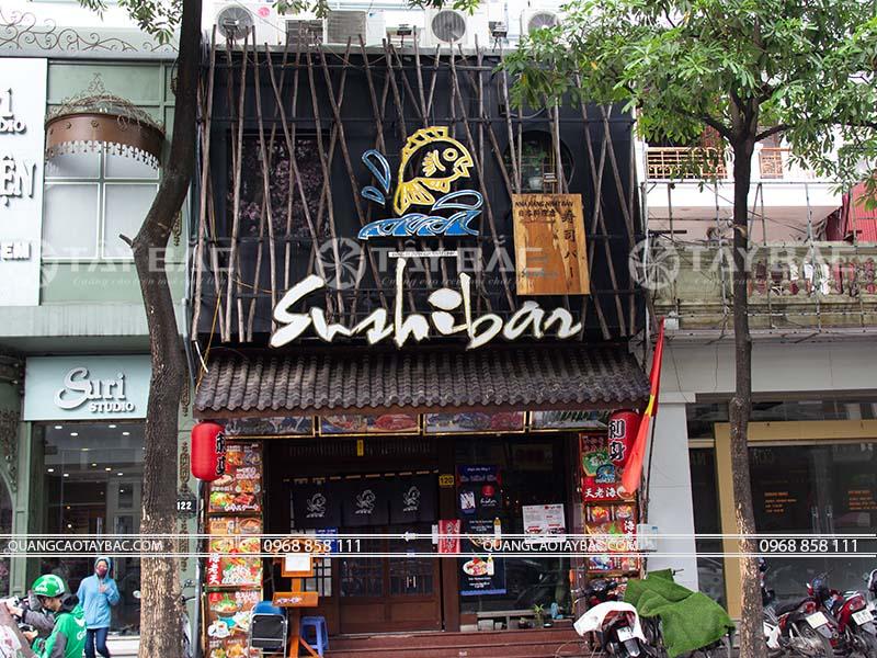 Biển nhà hàng Sushibar