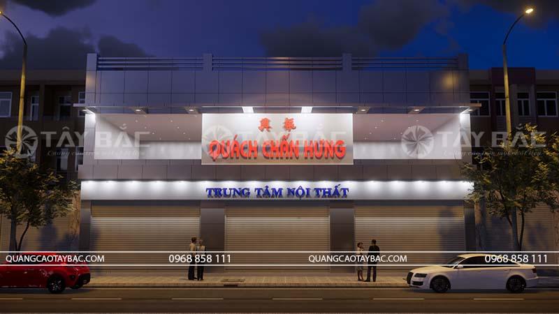 Phối cảnh biển quảng cáo nội thất Chấn Hưng