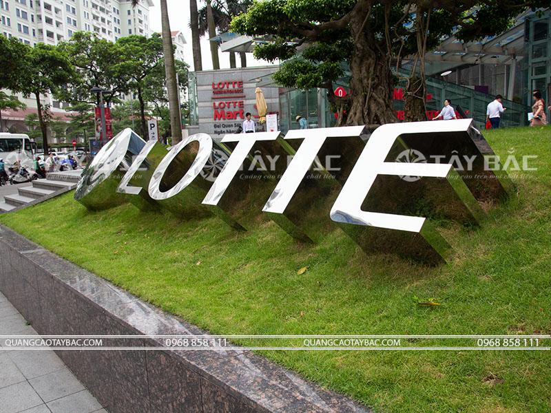 bộ chữ tòa nhà Lotte