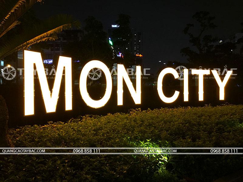 bộ chữ tòa nhà Mon City