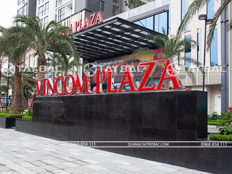 bộ chữ tòa nhà Vincom Plaza
