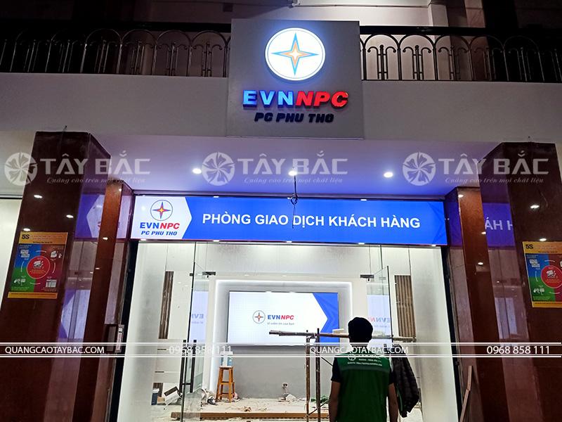 thi công biển hiệu điện lực Việt Nam