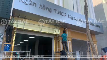 thi công biển hiệu quảng cáo ngân hàng Vietcombank