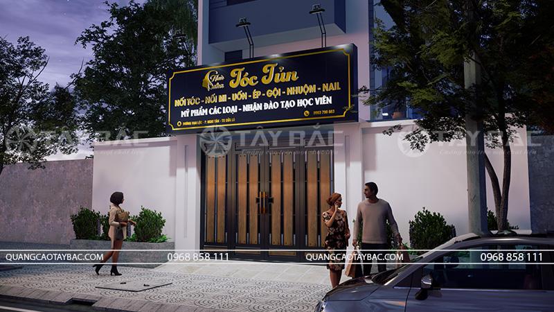 Biển quảng cáo salon tóc Tủn