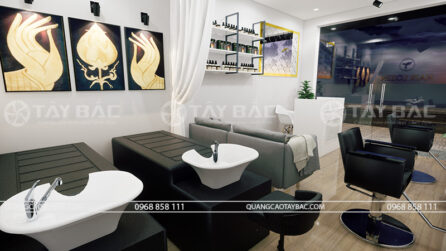 thiết kế thi công nội thất salon tóc Lozen