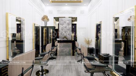 thiết kế nội thất salon tóc Luxury