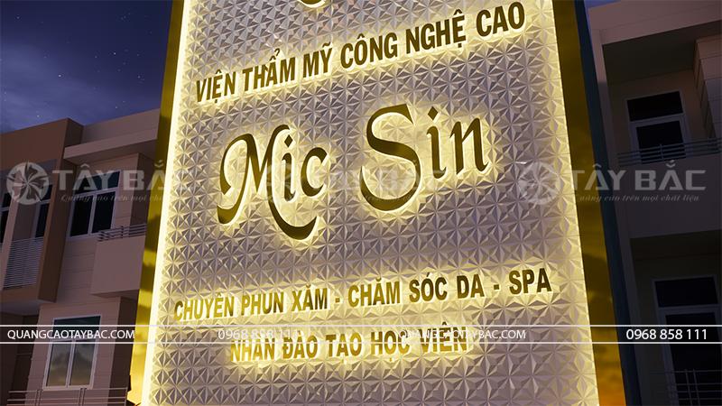 Biển quảng cáo thẫm mỹ viện Mic Sin