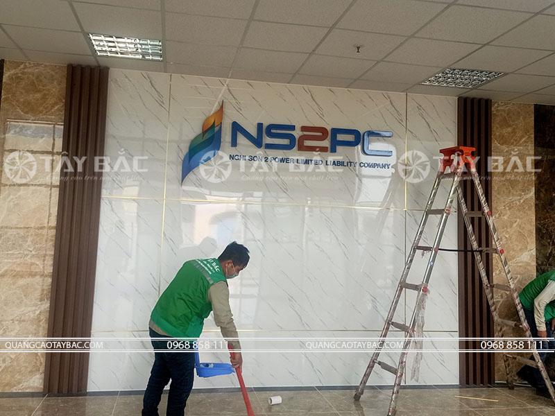 thi công backdrop công ty NS2PC Nghi Sơn