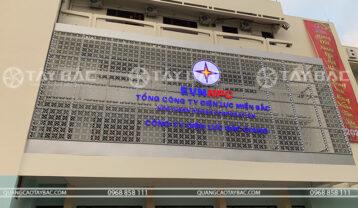 Thi công biển hiệu nhận diện thương hiệu điện lực Bắc Giang