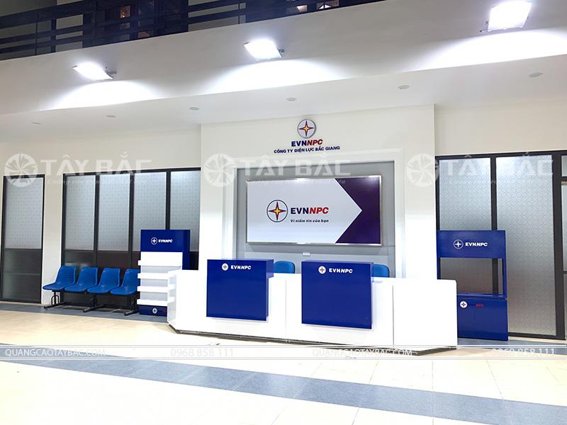 Sảnh lể tân điện lực Bắc Giang