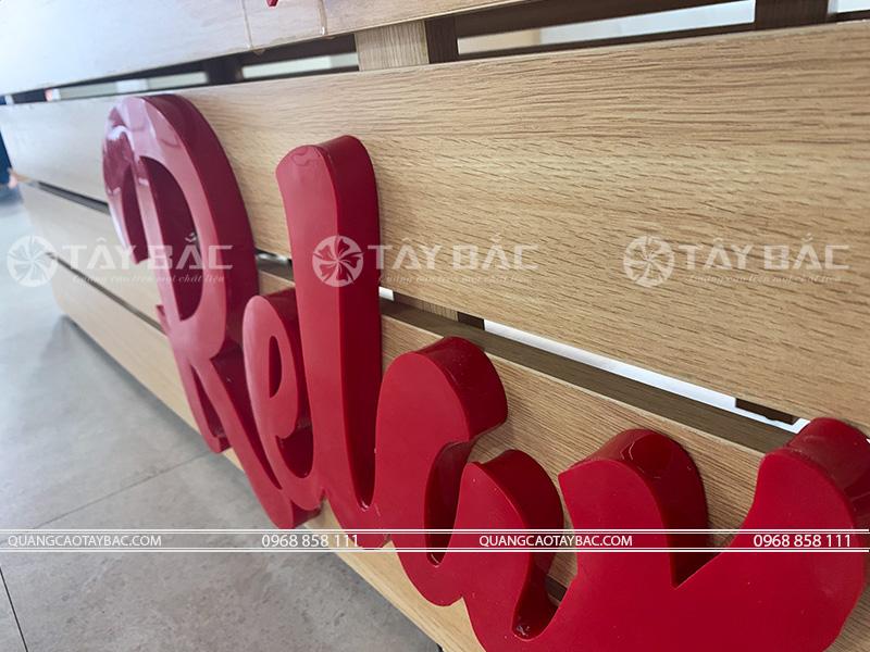 Bộ chữ relax tại nhà máy LG Hải Phòng