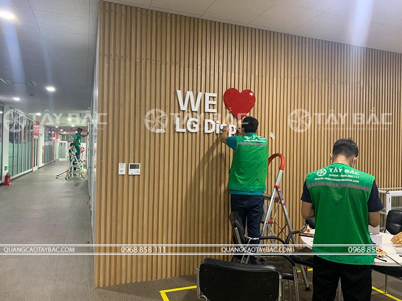 Thi công biển quảng cáo nhà máy LG Hải Phòng