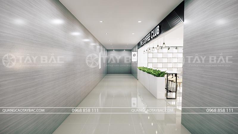 thiết kế thi công cửa hàng coffe Club
