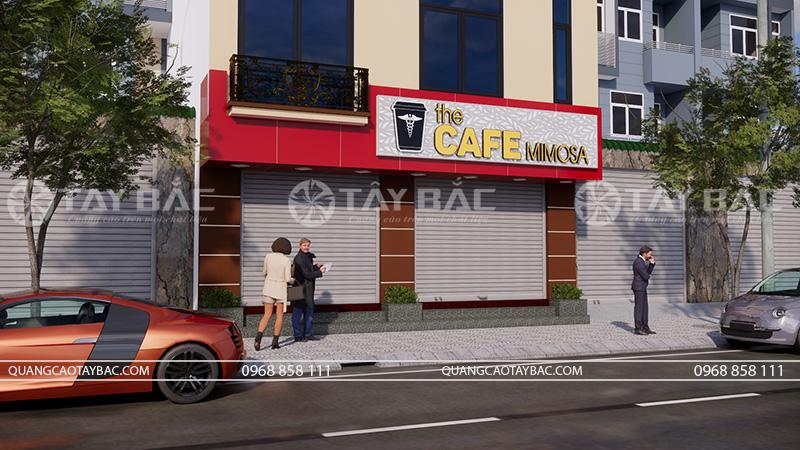 Thiết kế thi công biển coffee Mimosa
