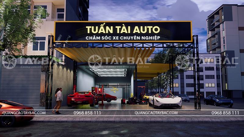 Biển quảng cáo gara ô tô Tuấn Tài