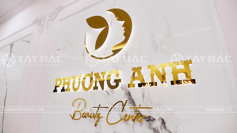 Bộ logo backdrop spa Phương Anh