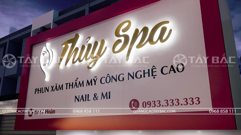 Biển quảng cáo spa Thủy
