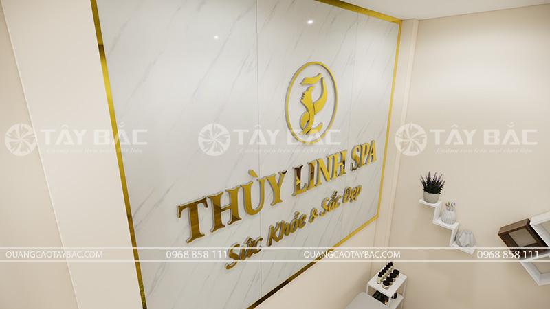 Backdrop spa Thùy Linh