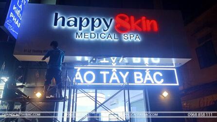 thi công biển quảng cáo shop mỹ phẩm happyskin