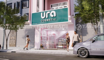 Mẫu bảng hiệu shop mỹ phẩm Ura