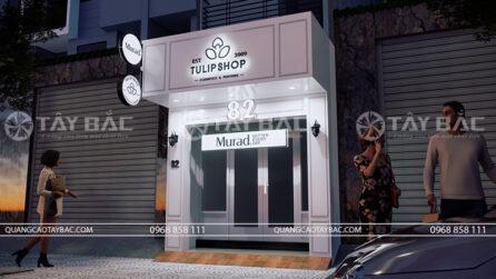 biển quảng cáo cửa hàng mỹ phẩm Tulip