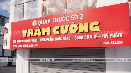 bảng quảng cáo nhà thuốc Trâm Cường
