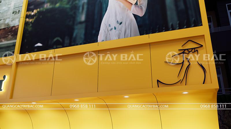 biển quảng cáo shop áo dài Minh Thư