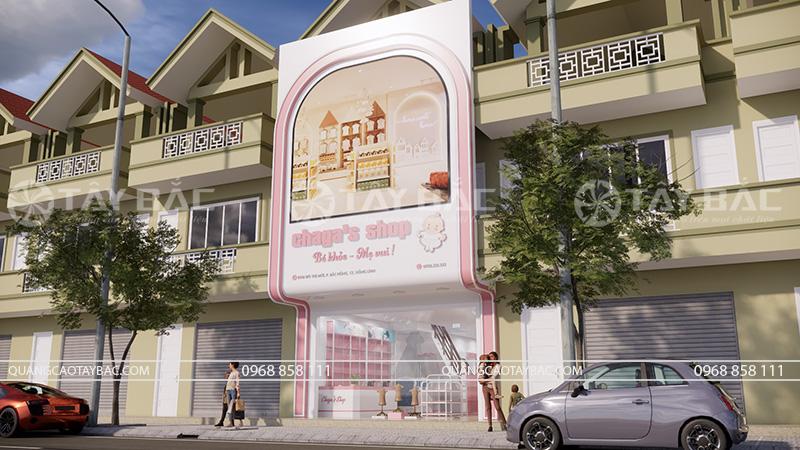 Biển quảng cáo cửa hàng mẹ và bé Chaga