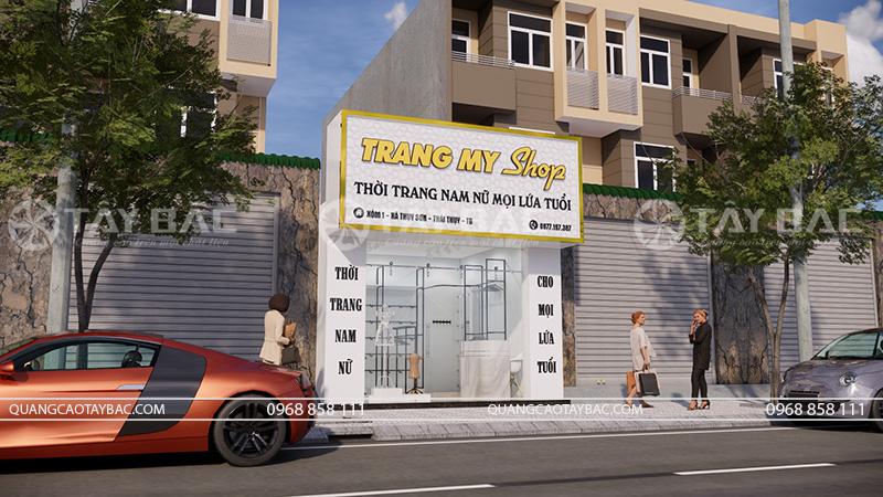 thiết kế thi công shop thời trang Trang My