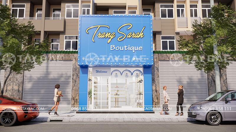 thiết kế shop thời trang Trang Sarah